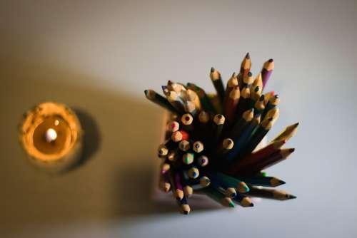 Pencil Candle Light Color