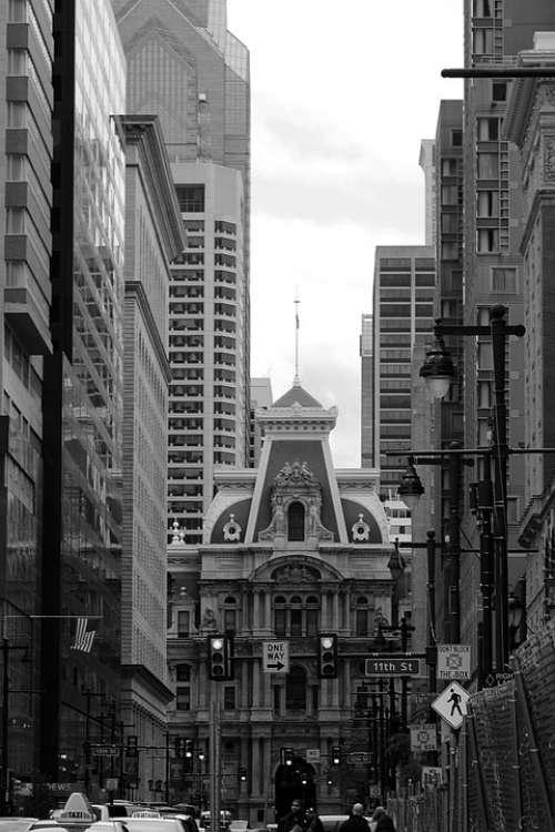 Philly Pa Building City Urban Pennsylvania Travel