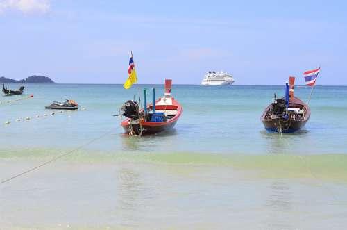 Phuket Thailand Boats Water Island Landscape