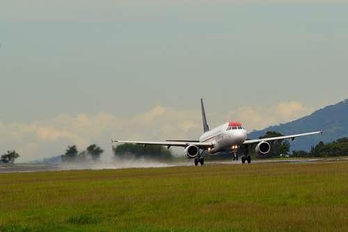 Plane Transport Flight Airport Sky Aviation