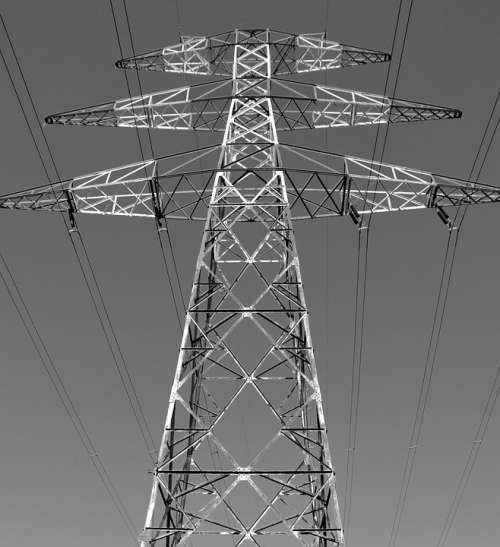 Power Line Transmission Electricity Infrastructure