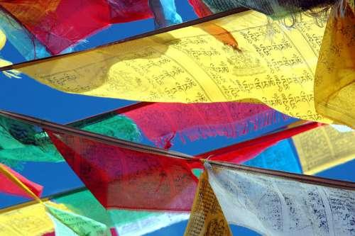 Prayer Flags Tibet Budism Himalayan