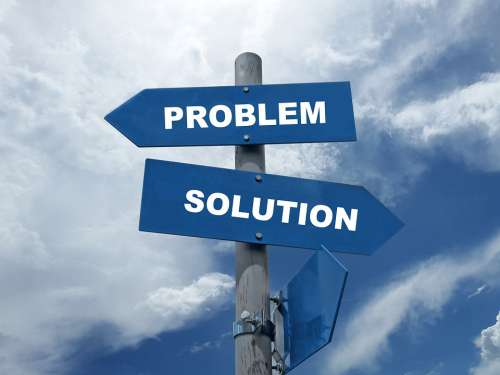 Problem Solution Decision Think Choose Opportunity