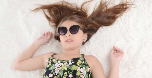 Relaxation Home Girl Glasses Lying Rest