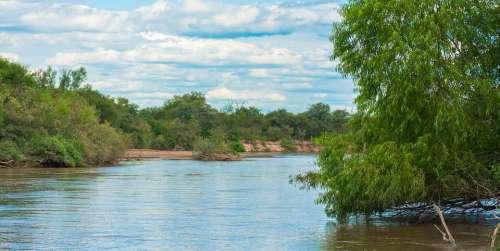 River Water Argentina Landscape