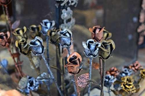 Roses Metal Metalwork Blacksmithing Artistic
