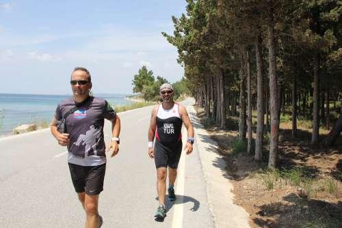 Run Sport Summer Athletic Triathlon Ironman Race