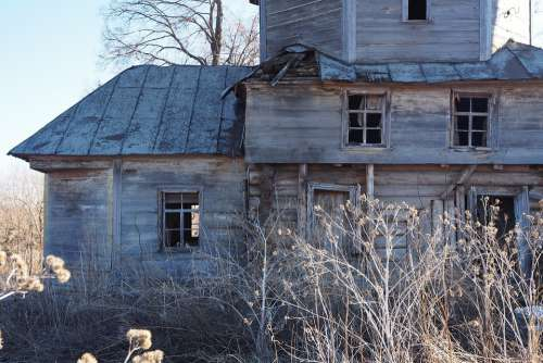 Russia Ruin Wood Doors Architecture Old Wooden