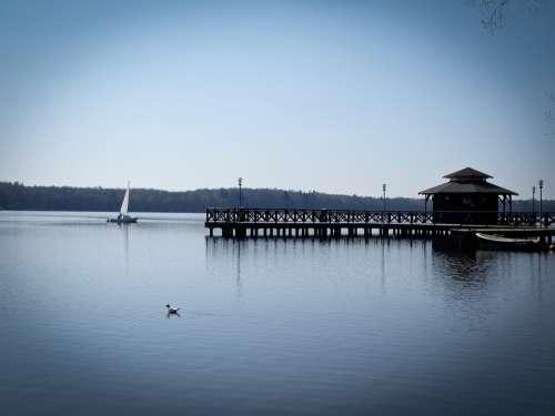 Sailboat Boat Lake Sails Holiday Sky Szczecinek