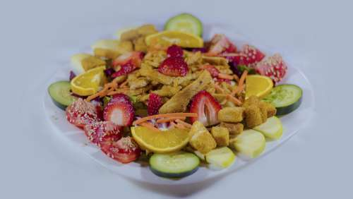 Salad White Bless You Healthy Food Fit Fesa