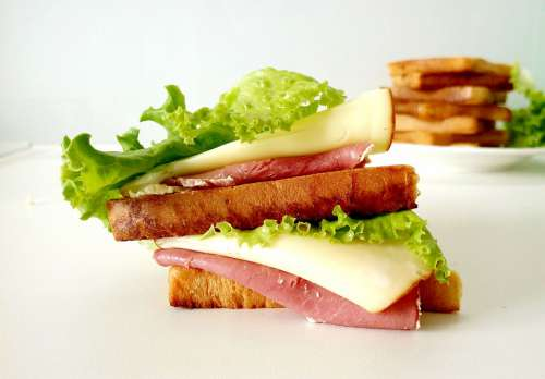 Sandwich Bread Salad Food Breakfast Fresh Toast