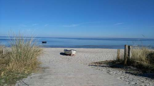 Scharbeutz Lake Beach Landscape Seaside Resort