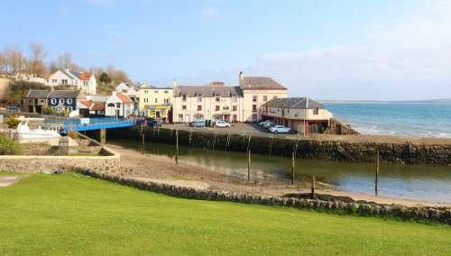 Scotland Lower Largo Village Harbour Harbor Coast