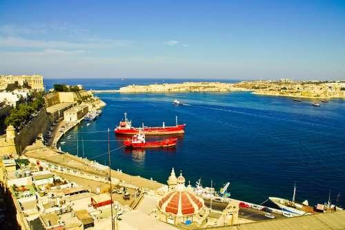 Ship Sea Water Malta Summer