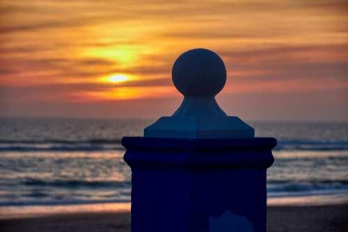 Sunset Beach Sky Landscape Horizon