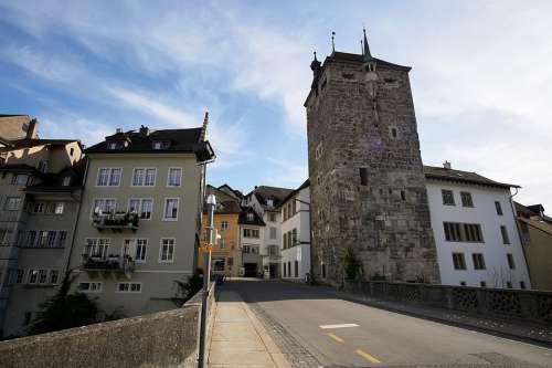 Switzerland Aargau Brugg City Historic Center Sun