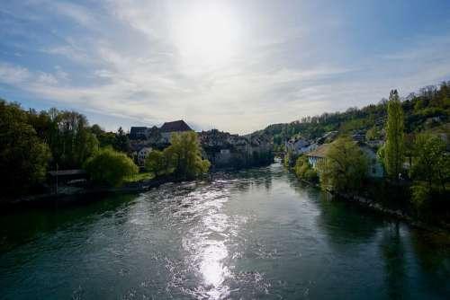 Switzerland Aargau Aare River Brugg City