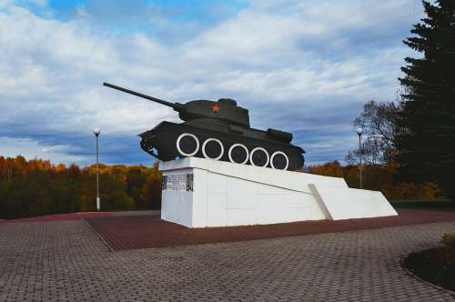 Tank Monument Velikie Luki The City City Weaponry