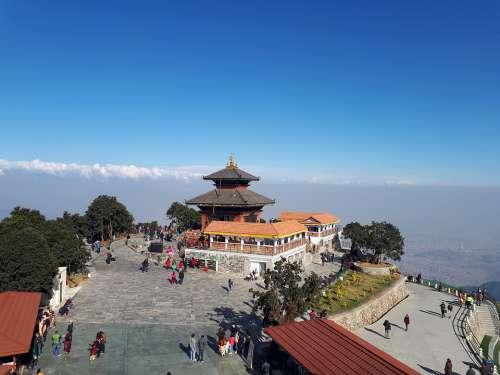 Temple Sky Beauty Nepal Beauty Of Nepal