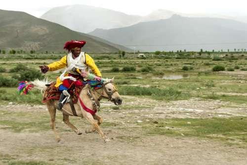 Tibet China Plateau Landscape Nature High Travel