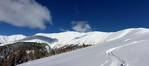 Toblacher Pfannhorn Winter Italy Dolomites Lands