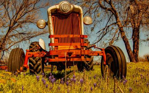 Tractor Antique Agriculture Farm Vehicle Vintage