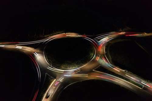 Traffic Night Highway Lighting Road City Light