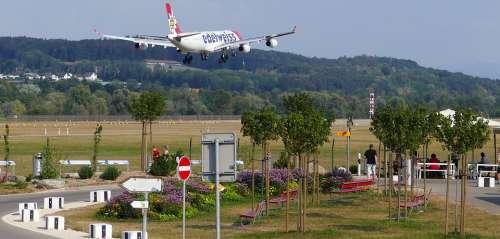Traffic Switzerland Airport Balls Landing Aircraft