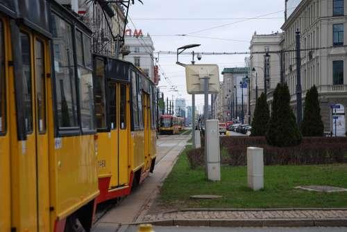 Tram City The Centre Of Street Transport Travel