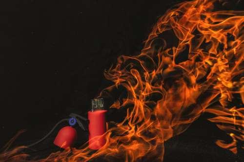 Usb Flash-Drive Technology Fire Extinguisher Fire