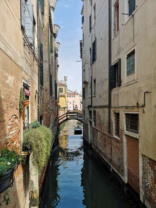 Venice Canal Architecture Water Building