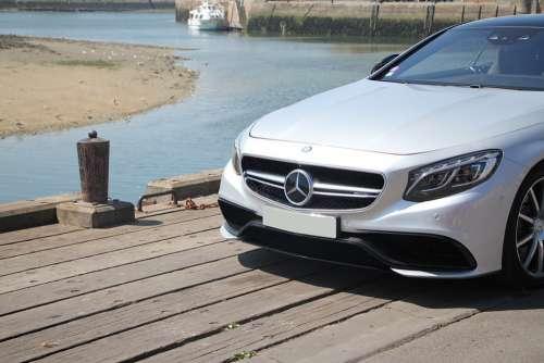Voiture Mercedes Port Bateau Mer Soleil