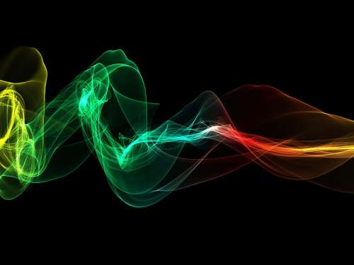 Wave Light Colorful Abstract Background Particles