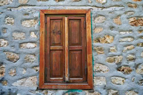 Window Wall Stone Solid Street Wood