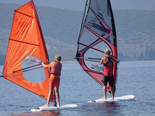 Windsurf Sea Windsurfing Sport Water Surfer Beach