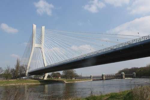 Wrocław Highway Bridge Road Architecture Landscape