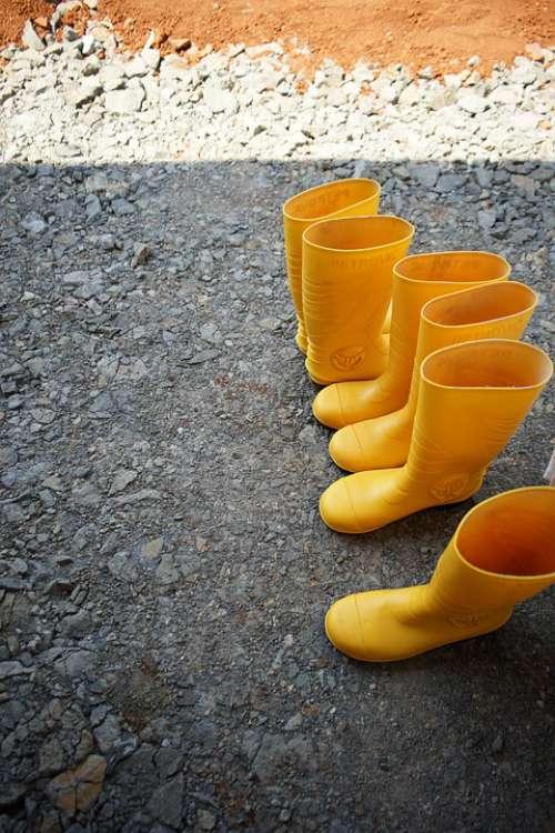 Yellow Shoes Fashion Safe Feet Shoe