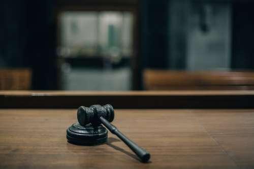 Gavel On Judges Bench Photo