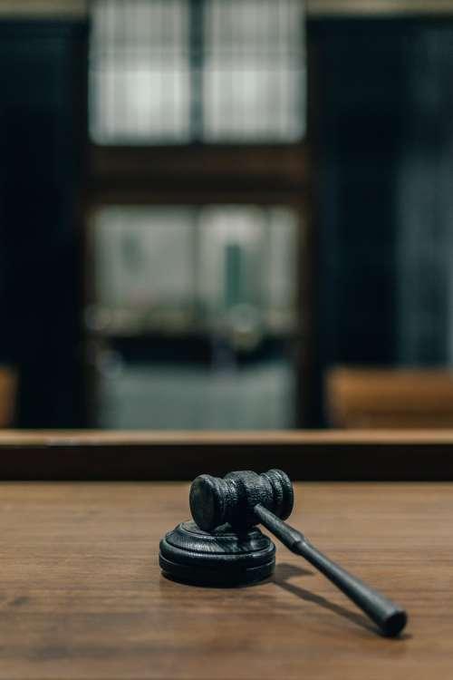 Judges Gavel On Bench Photo