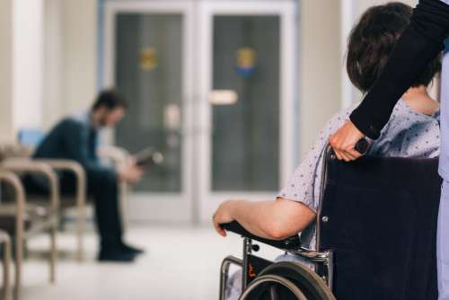 Patient In Wheelchair Photo