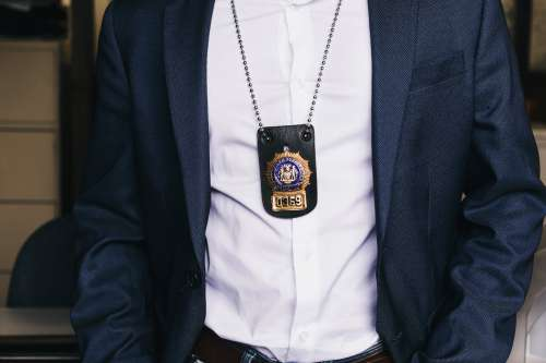 Police Badge Worn By Detective Photo
