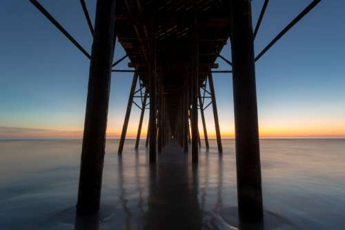 View From Under A Pier Photo