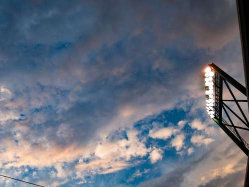 Stadium Lights and Clouds