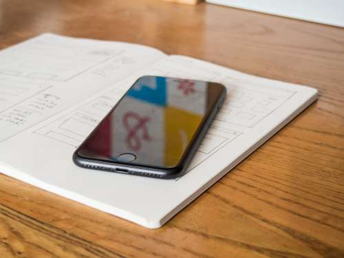 Phone and Notebook