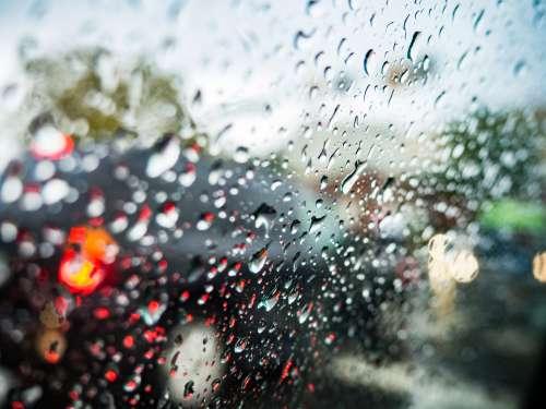 Rain on Car Window