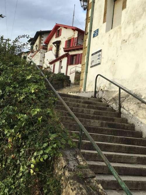 Stairs ivy village Europe