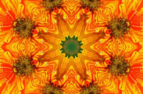 kaleidoscope symmetry repetition pattern design