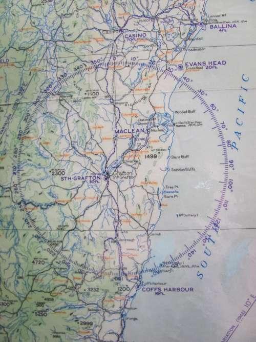map flight travel Australia