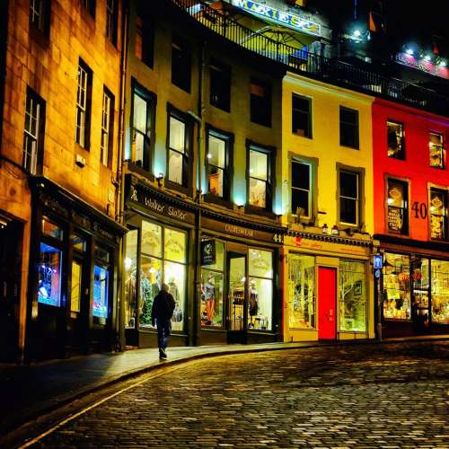 Edinburgh Darkedinburgh Scotland dark street