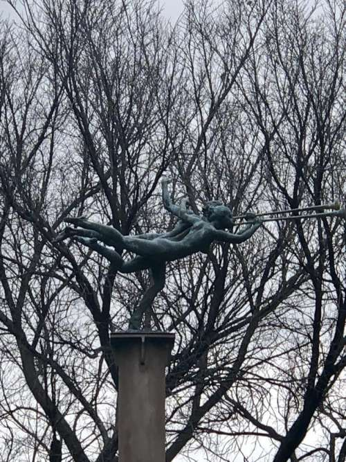 Trees branches statue